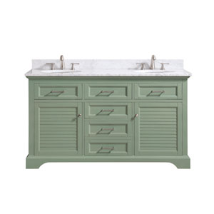 Colton Basil Green 61-Inch Vanity Combo