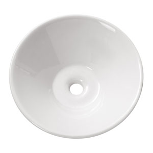 Above counter 16.5-Inch White Round Vitreous China Sink