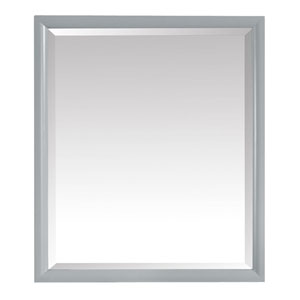 Emma Dove Gray 28-Inch Mirror