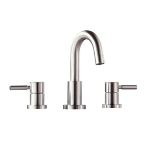 Positano Brushed Nickel 8-Inch Widespread Bath Faucet
