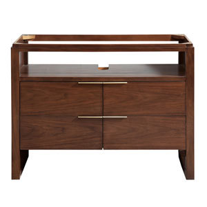Giselle Natural Walnut 43-Inch Vanity Only