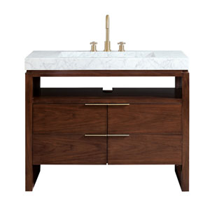 Giselle Natural Walnut 43-Inch Vanity Combo