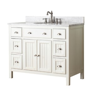 Hamilton French White 42-Inch Vanity Only