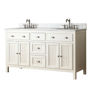Hamilton French White 60-Inch Vanity Only
