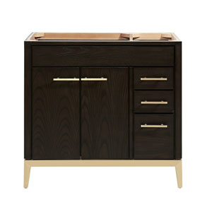 Hepburn Dark Chocolate 36-Inch Vanity Only