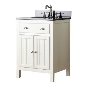Hamilton French White 24-Inch Vanity Combo with Galala Beige Marble Top