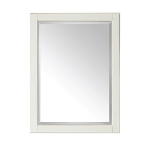 Hamilton French White 24-Inch Beveled Edge Rectangular Mirror