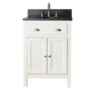 Hamilton French White 24-Inch Vanity Only