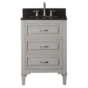 Kelly Grayish Blue 24-Inch Vanity Combo with Black Granite Top