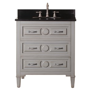 Kelly Grayish Blue 30-Inch Vanity Combo with Black Granite Top