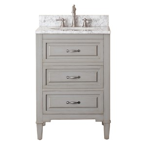Kelly Grayish Blue 24-Inch Vanity Only