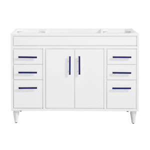 Layla White 48-Inch Vanity Only