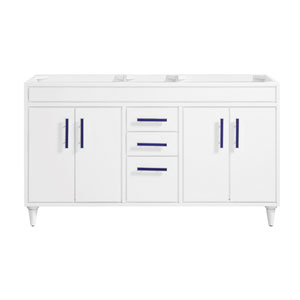Layla White 60-Inch Vanity Only
