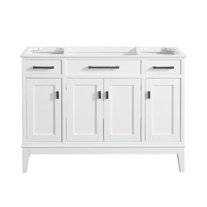 Madison White 48-Inch Vanity Only