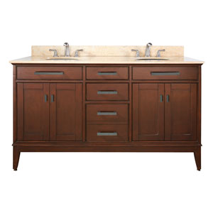 Madison 60-Inch Vanity Only in Tobacco Finish