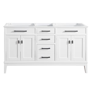 Madison White 60-Inch Vanity Only