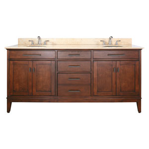 Madison 72-Inch Vanity Only in Tobacco Finish
