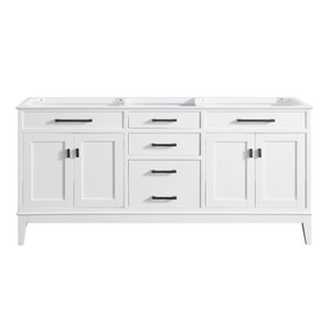 Madison White 72-Inch Vanity Only