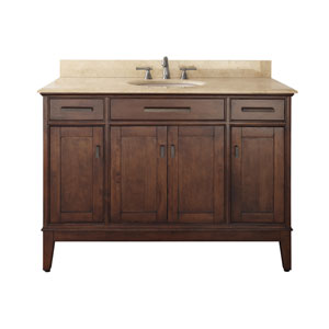 Madison Tobacco 48-Inch Vanity with Marble Top