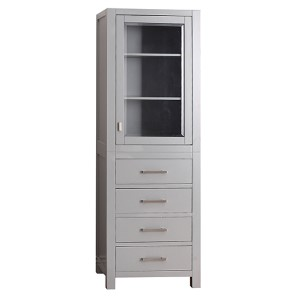 Modero Chilled Gray 24-Inch Linen Tower