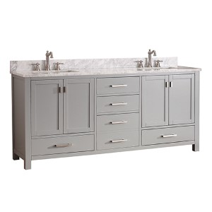 Modero Chilled Gray 72-Inch Double Vanity Only