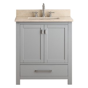 Modero Chilled Gray 30-Inch Vanity Combo with Galala Beige Marble Top