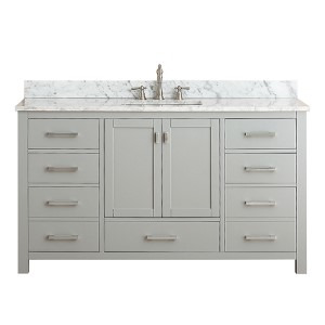 Modero Chilled Gray 60-Inch Single Vanity Only