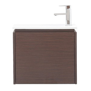 Milo Iron Wood 22-Inch Vanity with Vitreous China Top