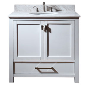 Modero 36-Inch Vanity Only in White Finish