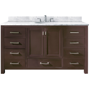 Modero Espresso 60-Inch Single Vanity Only