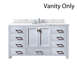 Modero White 60-Inch Single Vanity Only