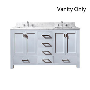 Modero White 60-Inch Double Vanity Only