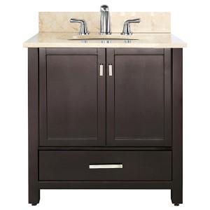 Modero Espresso 36-Inch Sink Vanity with Galala Beige Marble Top