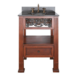 Napa 24-Inch Vanity Only in Dark Cherry Finish