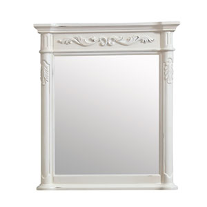 Provence Antique White 30-Inch Mirror
