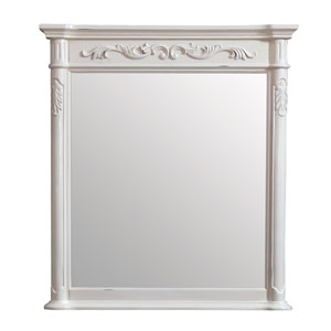Provence Antique White 36-Inch Mirror
