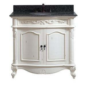Provence Antique White 37-Inch Vanity Combo