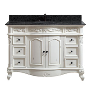 Provence Antique White 49-Inch Vanity Combo
