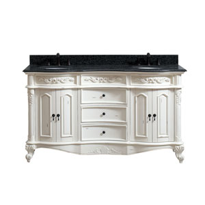 Provence Antique White 61-Inch Vanity Combo