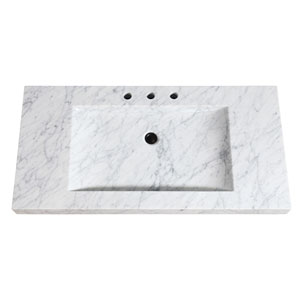 Stone Integrated 43-Inch Gray Sink Top