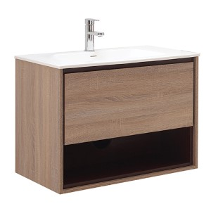 Sonoma Restored Khaki Wood 31-Inch Vanity Only