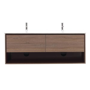 Sonoma Restored Khaki Wood 63-Inch Vanity Only