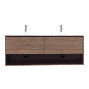 Sonoma Restored Khaki Wood 63-Inch Vanity Combo
