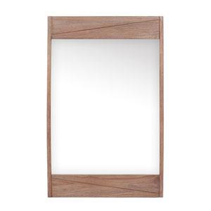 Teak 24 inch Mirror in Rustic Teak