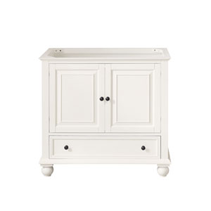 Thompson French White 36-Inch Vanity Only