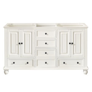 Thompson French White 60-Inch Vanity Only