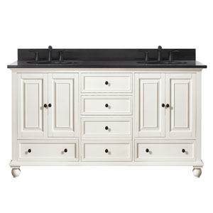Thompson French White 61-Inch Vanity Combo