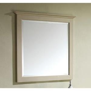 Tropica 30-Inch Antique White Mirror