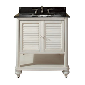 Tropica 30-Inch Vanity Only in Antique White Finish