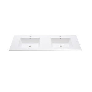 VersaStone Matte 63-Inch Solid Surface Vanity Top with Integrated Bowl